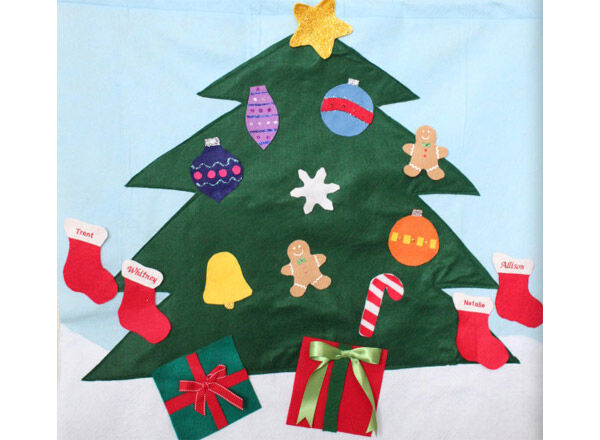 a christmas tree made for touching this felt wall hanging 4289 doubles as a decoration and a toy your child can help you decorate your tree - Child Proof Christmas Tree Decorations