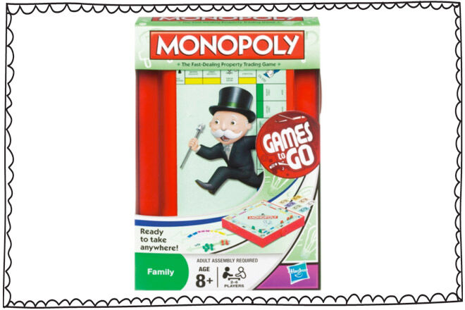 Travel games for kids: Travel Monopoly