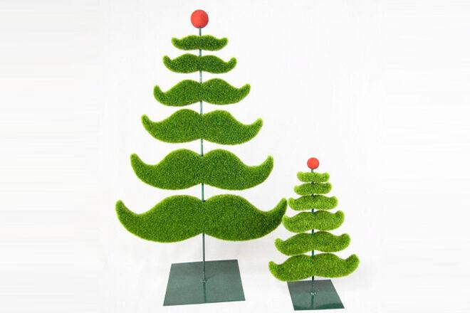 moustache xmas tree