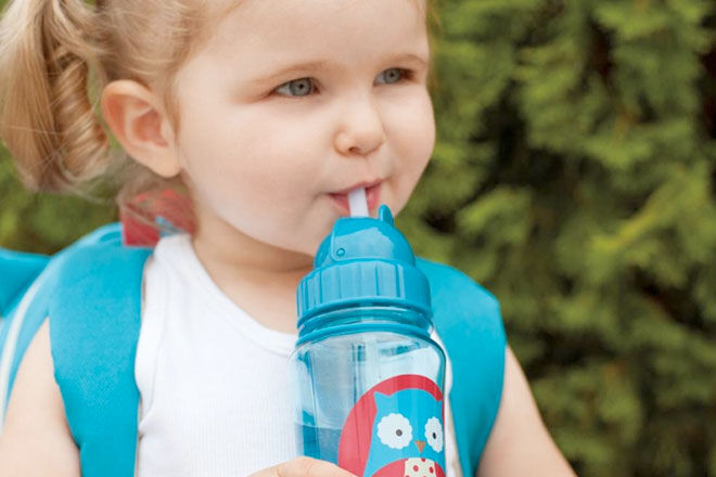 Image result for kids drinking water bottle