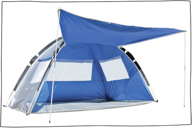Beach tent with awning & 15 super beach tents and sun shelters