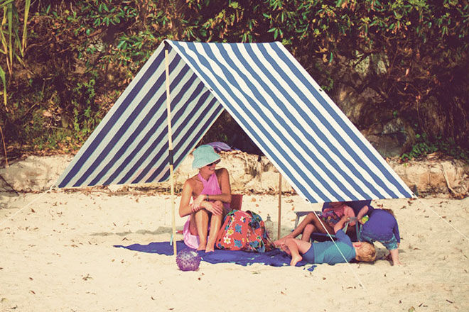 Byron Bay Beach Shades & 15 super beach tents and sun shelters