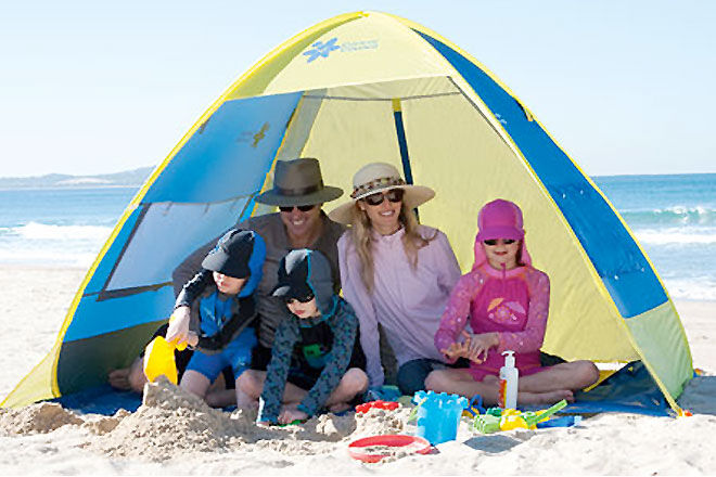 Cancer Council Beach Cabana & 15 super beach tents and sun shelters