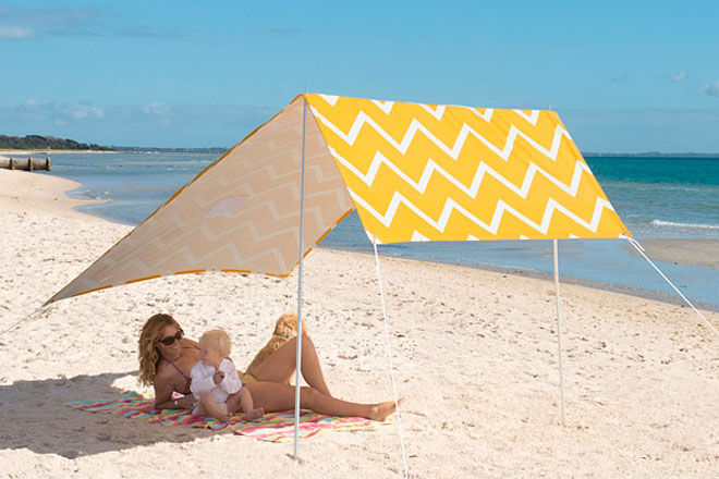 These breezy cotton Sombrilla beach shelters ($169) can be angled against the sun u2013 and look pretty gorgeous too! & 15 super beach tents and sun shelters