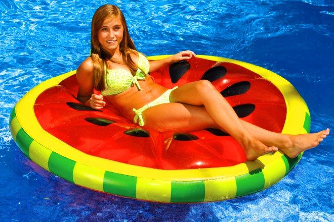 Watermelon slice lounger