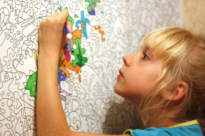 10 cool colourin wallpaper for kids