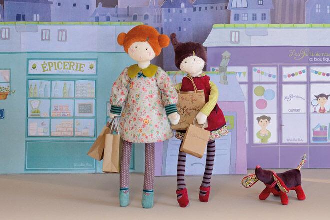 Moulin Roty 'Les Parisiennes' rag dolls