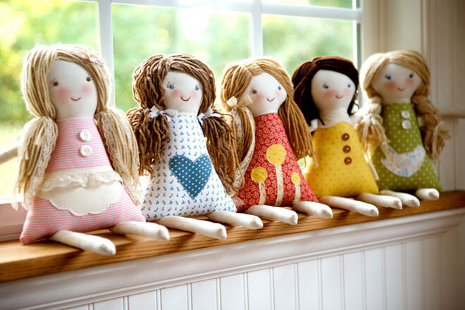 Selection of rag dolls from The Busl Barn