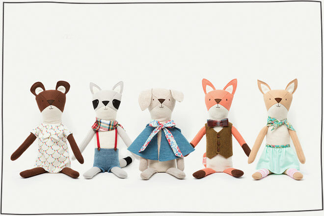 Animal Cloth Dolls Walnut Animal Society
