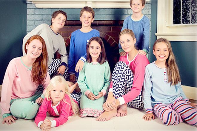 School girls peeing in pyjamas group