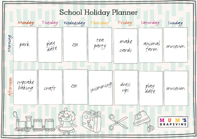 Free Printable School Holiday Planner With 50 Activity Ideas