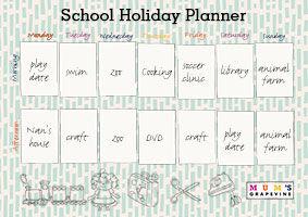 School Holiday Planner