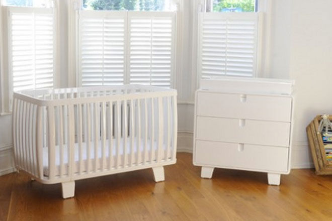 retro baby furniture. bloomretrocotanddresserwhite retro baby furniture