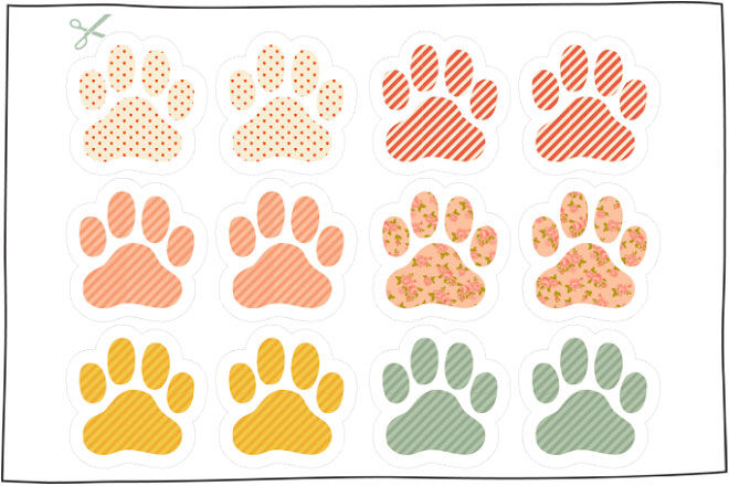 bunny feet template printable - 10 free easter printables for the kids