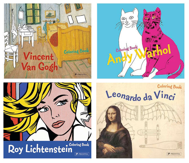 Art colouring books