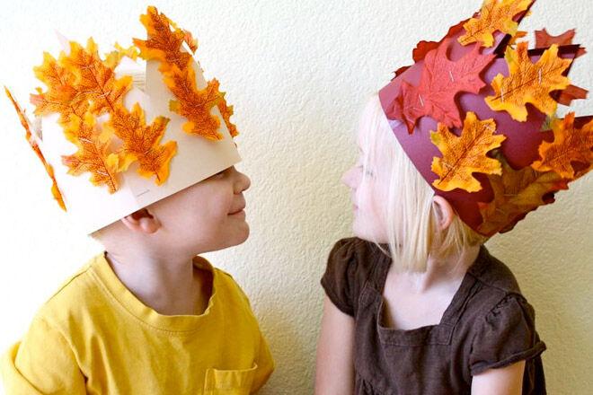 Leaf crown craft