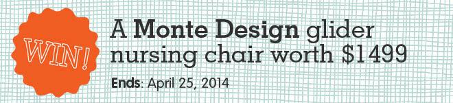 Win a Monte Design glider chair