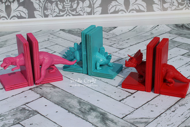Dinosaur-Bookends-After