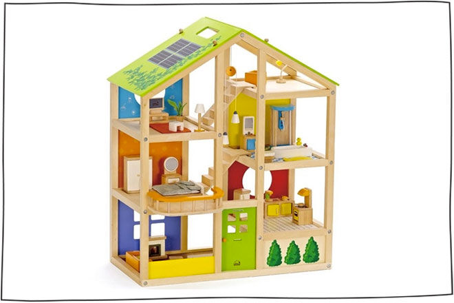 Hape All Seasons Decked Out Doll House