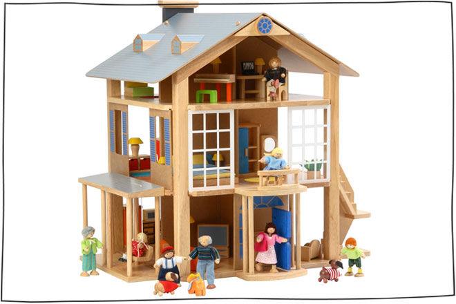 plans for dolls houses free. Voila Large Doll House 21 gender neutral dolls houses for girls and boys