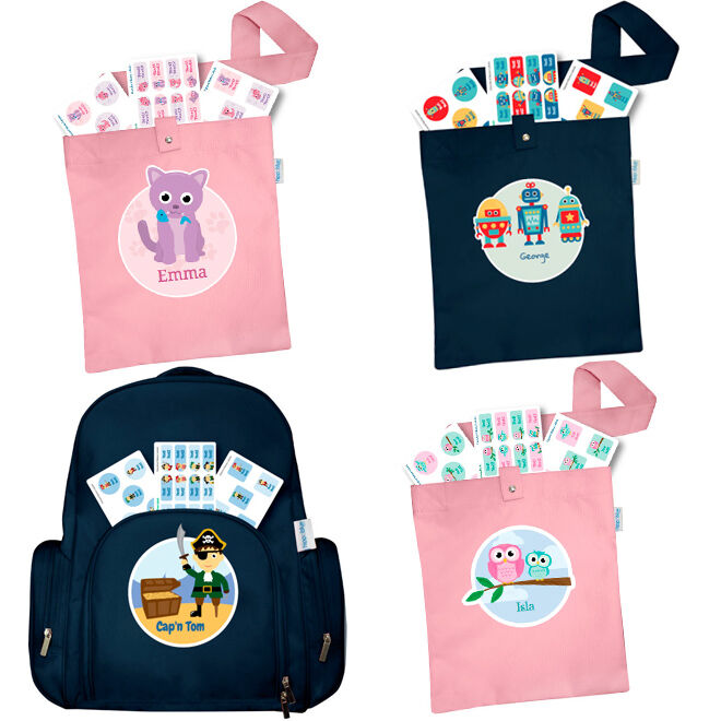 Hippo Blue personalised bags