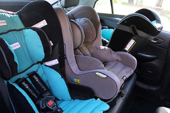 how to fit three car seats in the back. Black Bedroom Furniture Sets. Home Design Ideas