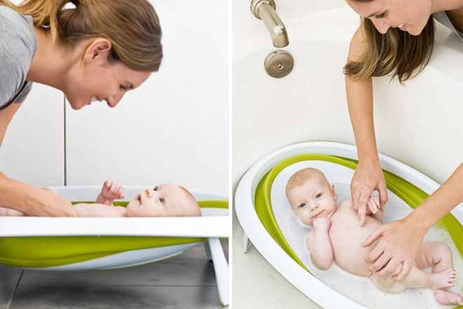boon baby bath collapsible bathtub for babies and newborns. Black Bedroom Furniture Sets. Home Design Ideas