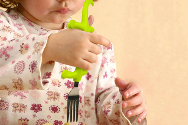 Fred Dinnersaurs Kids Fork and Spoon Set