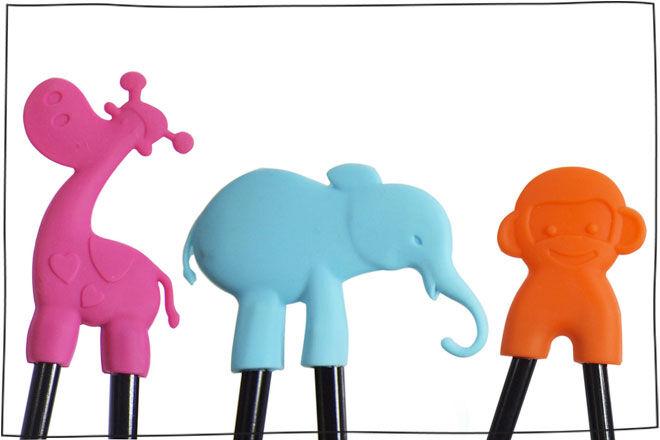 IS Gift chopsticks Monkey Elephant Giraffe