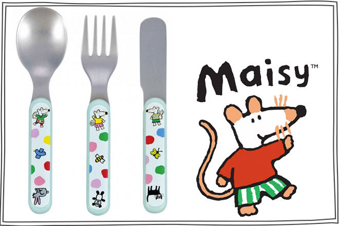 Petit Jour Maisy dot cutlery set