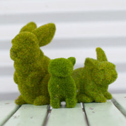 Moss bunnies for hire from Mini Party People