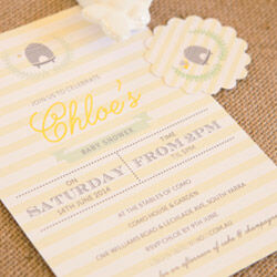 Personalised invitations by Love JK (from $2.49 ea)