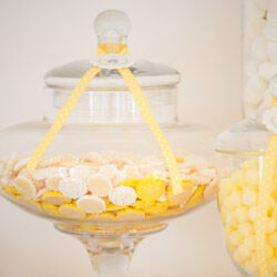 Candy buffet lollies from The Party Parlour, candy jars for hire from Mini Party People