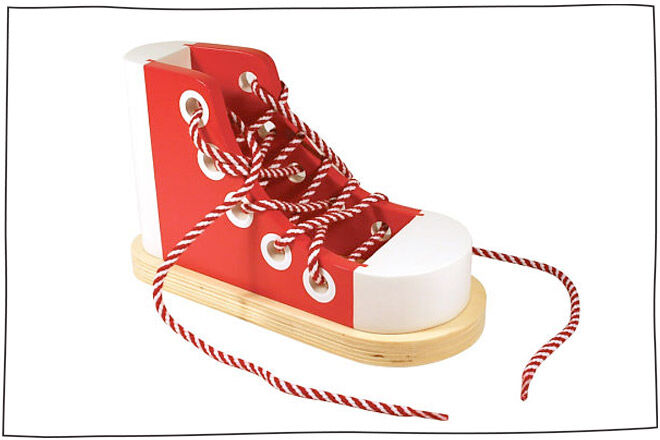 Melissa and Doug shoelace sneaker toy