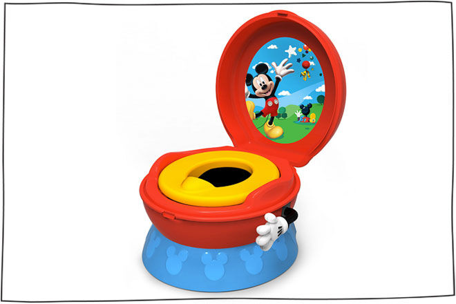 3 in 1 Flushing Sounds Potty Mickey Mouse