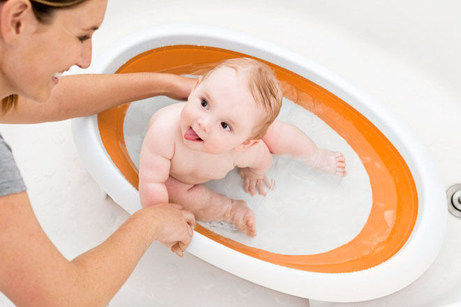 Boon baby bath - collapsible bathtub for babies and newborns