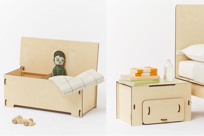 Playroom Panca Bambina Toy Box Seat Happy Place