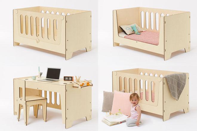 Plyroom Ava Cot Junior Bed Desk