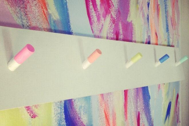 Pastel wall hooks