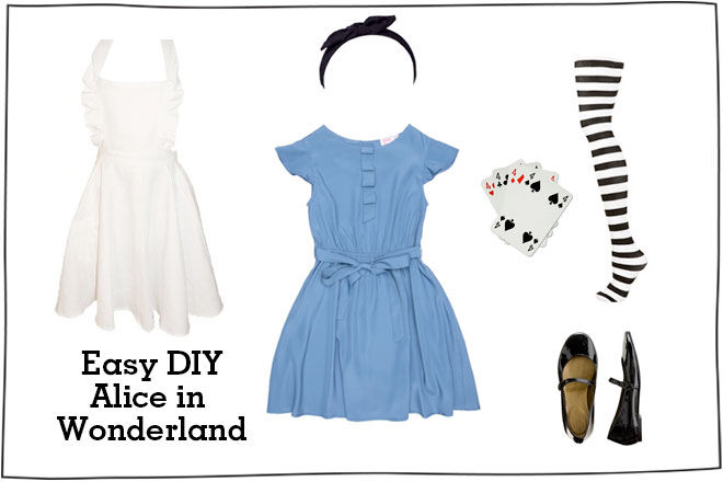 Alice in wonderland costume  sc 1 st  Mumu0027s Grapevine & Easy DIY Childrenu0027s Book Week Costumes