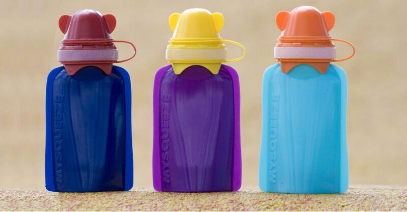 My squeeze reusable food pouch