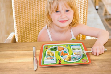 FRED dinner winner plate makes trying new foods fun