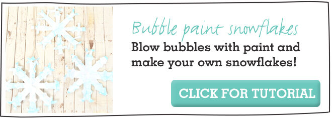Bubble Paint Snowflakes craft