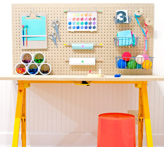 Keep kids craft activities neat and tidy