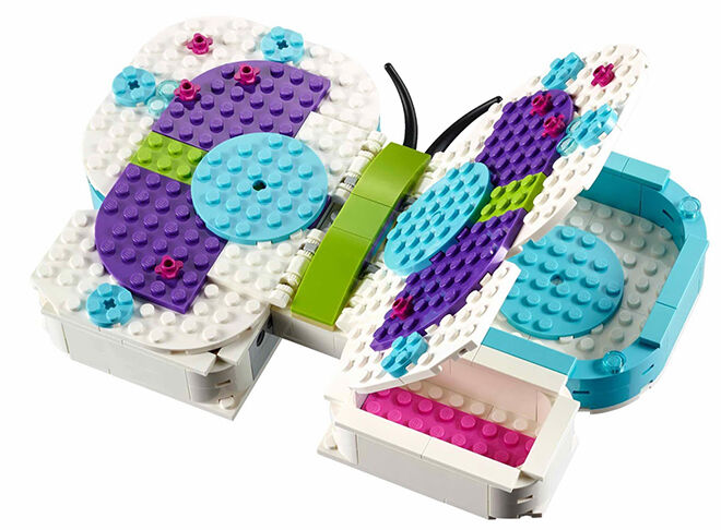 This butterfly organiser makes their LEGO collection look beautiful