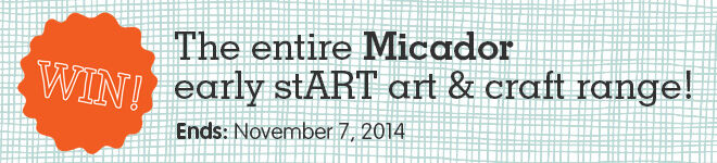 WIN the entire Micador early stART art & craft range
