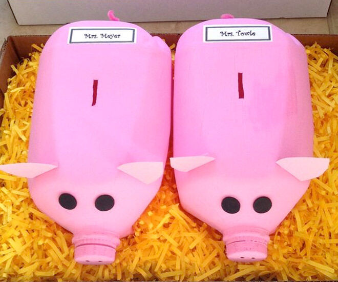 Milk Carton Piggy Banks