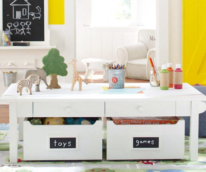 14 Clever Kids Craft Storage Ideas