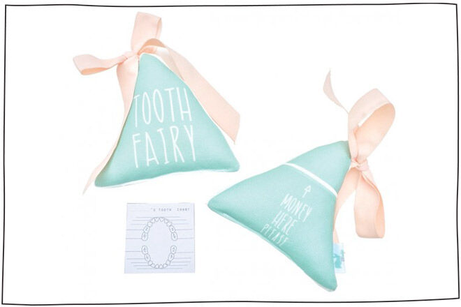 Pastel Tooth Fairy Pillow by Macaroon Kids