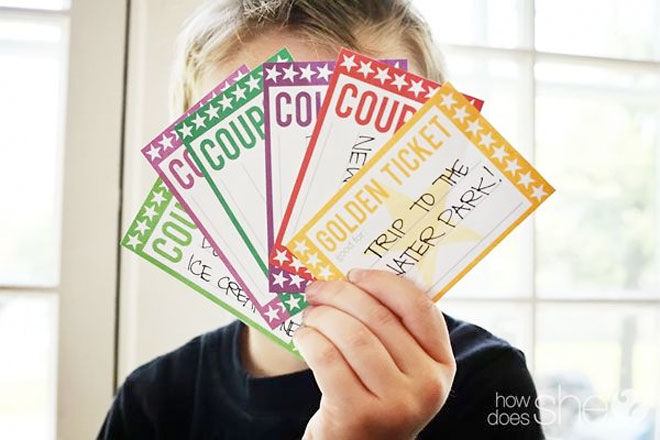Activity coupons for kids